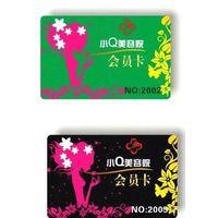 plastic member card