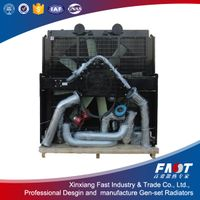 High performance Mitsubishi S12H-PTA Diesel genset radiators on sale
