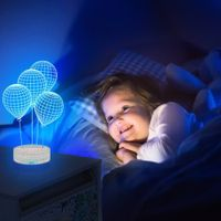 3D Leopard LED Night 7Color Change Touch Switch Table Desk animal bedroom Lamp Light thumbnail image