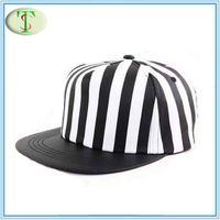 polyester printed striped snapback cap hat (SB-037)