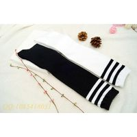 Long classic students socks with three stripe From China socks supplier thumbnail image