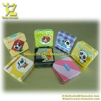 condom small square tin box with hinge