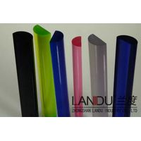 High quality transparent acrylic half round rods acrylic half round bars acrylic half round sticks