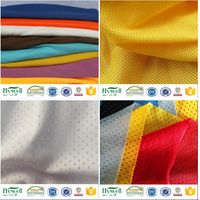 100% polyester tricot mesh fabric