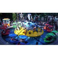 water-paddle amusement park ride shark  island