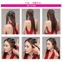 Top Quality cheap 100% human hair double drawn clip in hair extension thumbnail image