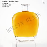 HIGH END WHISKEY GLASS BOTTLE EXTRA WHITE