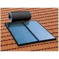 Flat plate compact pressure solar water heater