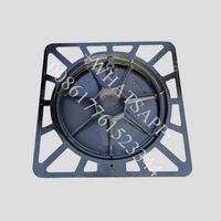 Chinese supplier Round manhole cover with lock hinge and gasket thumbnail image