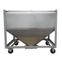 600L movable powder storage container