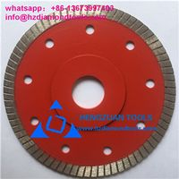 Super thin diamond cutting disc for porcelain tile
