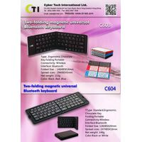 Two-folding magnetic universal Bluetooth keyboardK