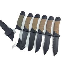 fixed blade knife Camping with pp& rubber handle black oxide sian