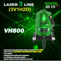 Green multi line laser level with plumb dots (2V1H1UP & 1DOWN DOT)