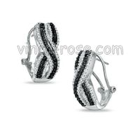 micropave silver earrings, gemstone jewelry, 925 silver jewelry