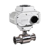 COVNA 220V Food Grade Sanitary Tri Clamp Valve 2 way Electric Operated Actuator Ball Valve