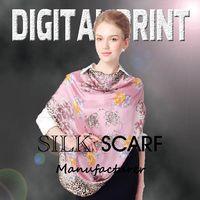 Satin Fabric Digital Print silk shawl