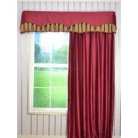 Swan Geometric Two-layered Wave and Box Pleat Valance and Curtains