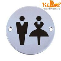 stainless steel sign plate bathroom indicating number plate