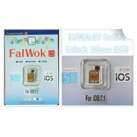 Wholesale - The FALWOK Ultra S GSM unlocks your GSM iPhone 5 running iOS 7Unlock sim card for iPhone