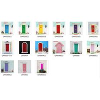 1:12 Wooden Dollhouse Miniatures Furniture Fair Door