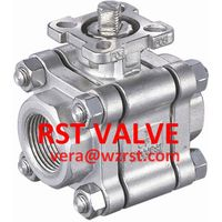 NPT/BSPT/BSPP 3PC TYPE Threaded Ball Valve With ISO5211 Mounting Pad,WCB/CF8/CF8M, 2000WOG