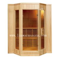 traditional steam sauna room with stove for 4 people