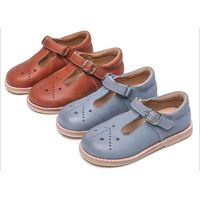 Girls Mary Jane Flat EU 23-30 Soft Kids Shoes Manufacturer Real Material thumbnail image