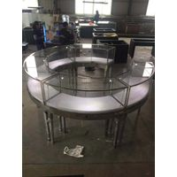 round jewelry kiosk and steel jewelry display table thumbnail image