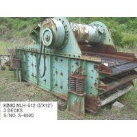 USED KINKI NLH-512 (5 FT X 12FT) 3 DECKS HORIZONTAL TYPE VIBRATING SCREEN S/NO. S-8520 WITH MOTOR thumbnail image