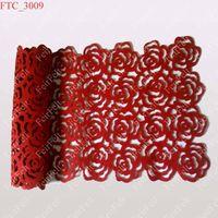 Rose Felt Table Cloths, table cover, table runners, table mats, tischdecke, tischläufer, tischwäsche thumbnail image