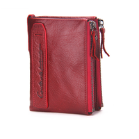 Fashion Genuine Leather Women Wallets Bifold Wallet ID Card Holder