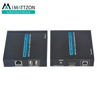 Mattzon 100m HDMI KVM Extender over Single cat5e/6 With IR