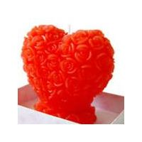 Rose Heart Candle Favor