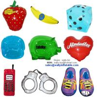 promotional gifts, inflatable strawberry, banana, inflatable piggy bank, heart inflatable shoes