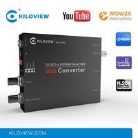 Network to SDI VGA HDMI AV CVBS Video Processor RTMP to 1080P H.264 Video Encoder Decoder Hardware thumbnail image