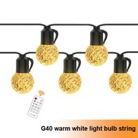 G40 outdoor warm white crystal bulb string