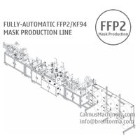 Fully-automatic FFP2/KF94 Respirator Mask Making Machine Production Line