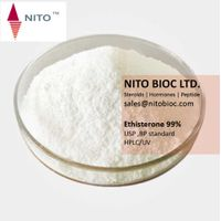 Factory quality control, strong steroid powder;Ethisterone with CAS NO:434-03-7