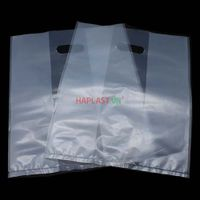 Matte Clear Plastic Bags With Die Cut Handles thumbnail image