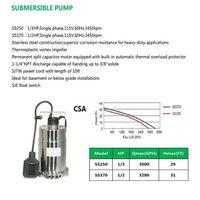 SUBMERSIBLE PUMP SS250 SS370