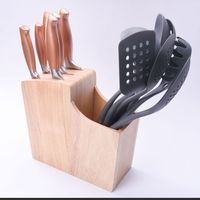 13pcs Color Stainless Steel Wooden Handle Cooking Kitchen Knife Utensils Set