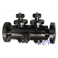 Double Block and Bleed Forged Steel Lever Operated Floating Ball Valve thumbnail image