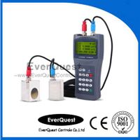 Portable ultrasonic flow meter with clamp on sensor