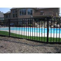 High Security Black Powder Coated Burglar Fence
