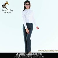fashion new style cotton office lady women blouse shirts thumbnail image
