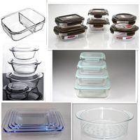 high borosilicate glass food contaier