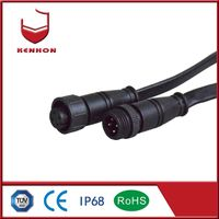 M15 waterproof circular and mental connector with 5 pin IP68 used at outdoor lighting thumbnail image
