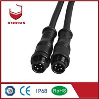 3+2 3 pin IP68 12 volt connector waterproof for outdoor extension cable waterproof