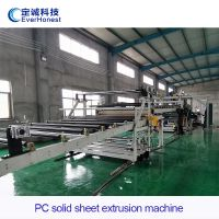PC solid sheet extrusion machine